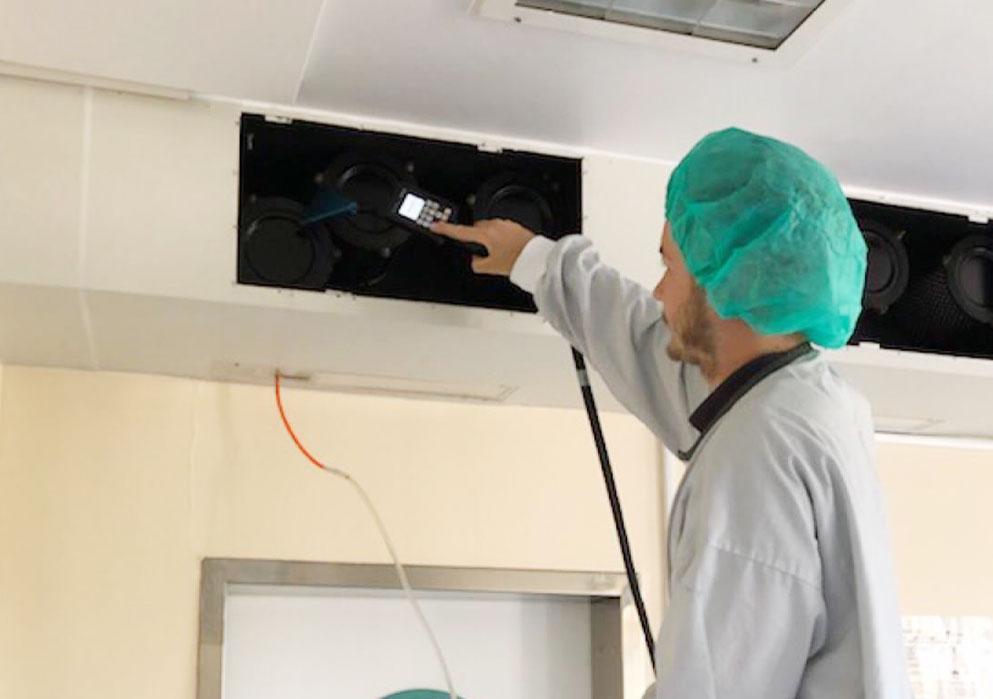 Hur fungerar ventilationen i en operationssal?